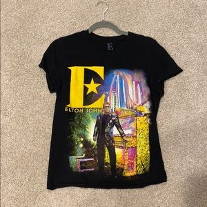 Elton John Band Tee Farewell Tour Size Small